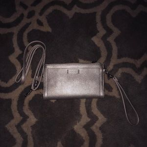 Relic Silver Wristlet/Wallet with Body Strap